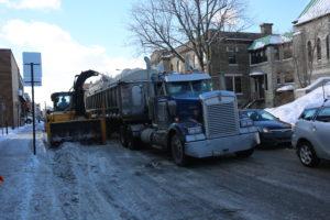 Tracteur chasse-neige