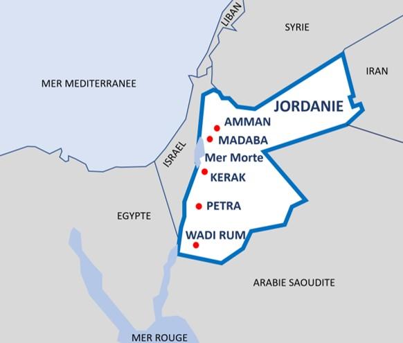 Plan de la Jordanie